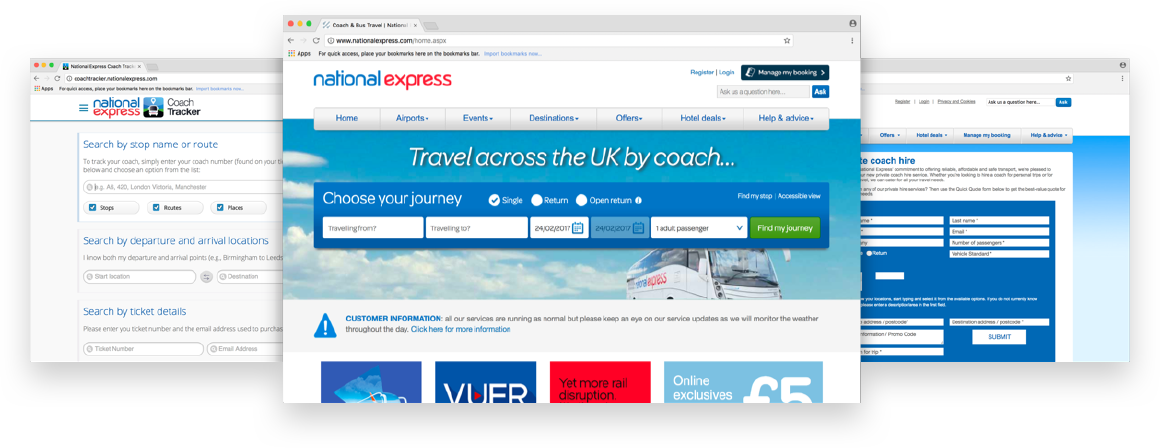 National Express web design