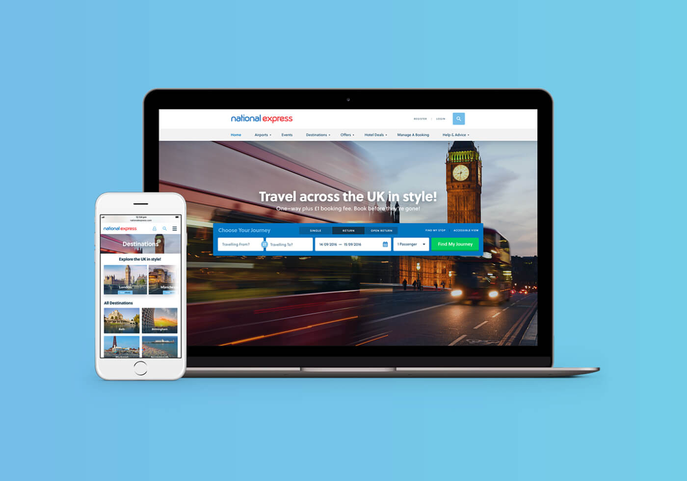 National Express website mockup