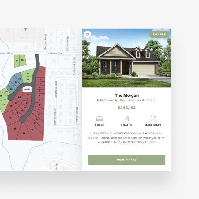 Davidson Homes website component