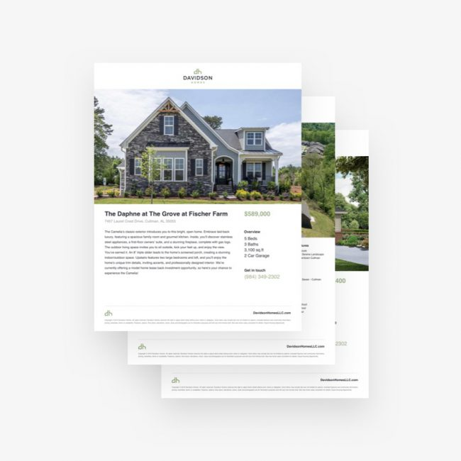 Davidson Homes website component