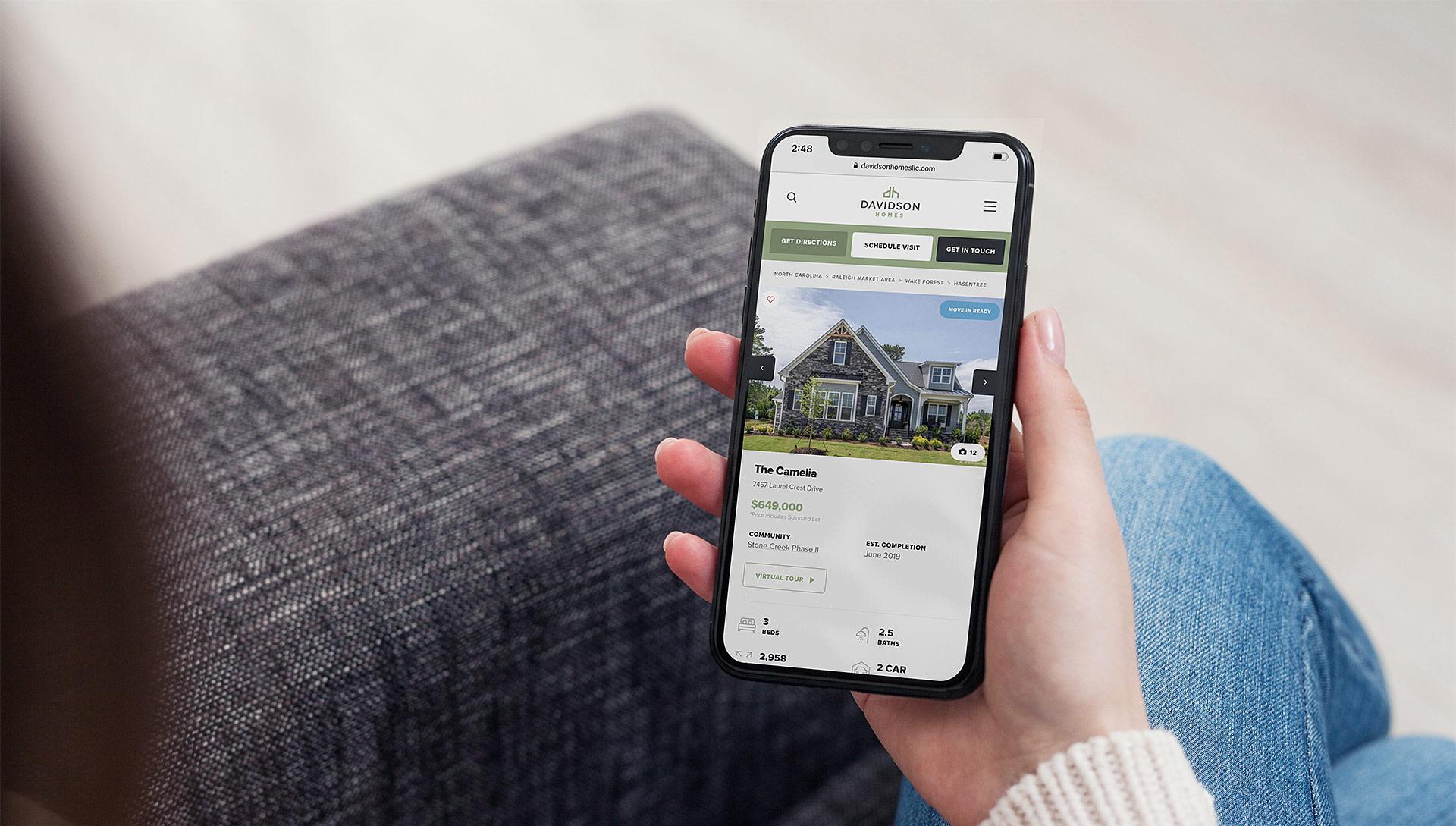 Davidson Homes website mockup